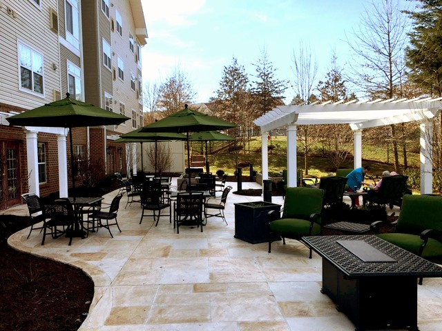 Exterior demolition and hardscape patio construction at Assisted Living Facility - $175,000
