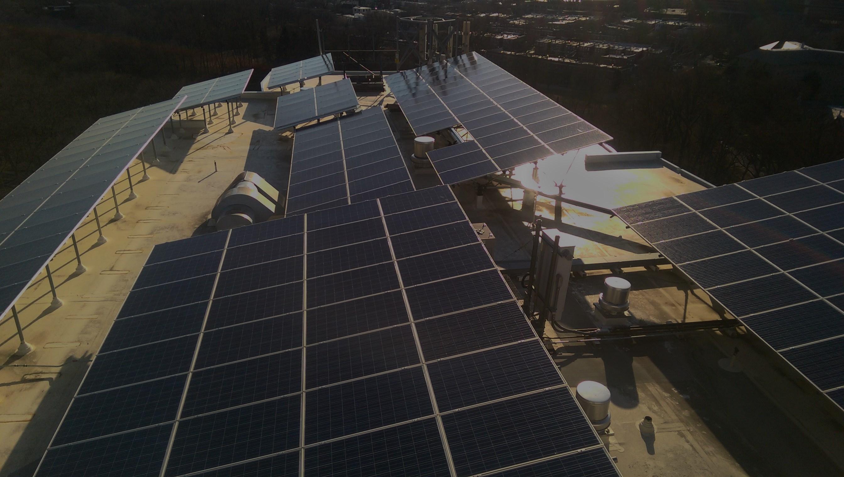 Solar Panel Array atop City High Rise Building....$550,000
